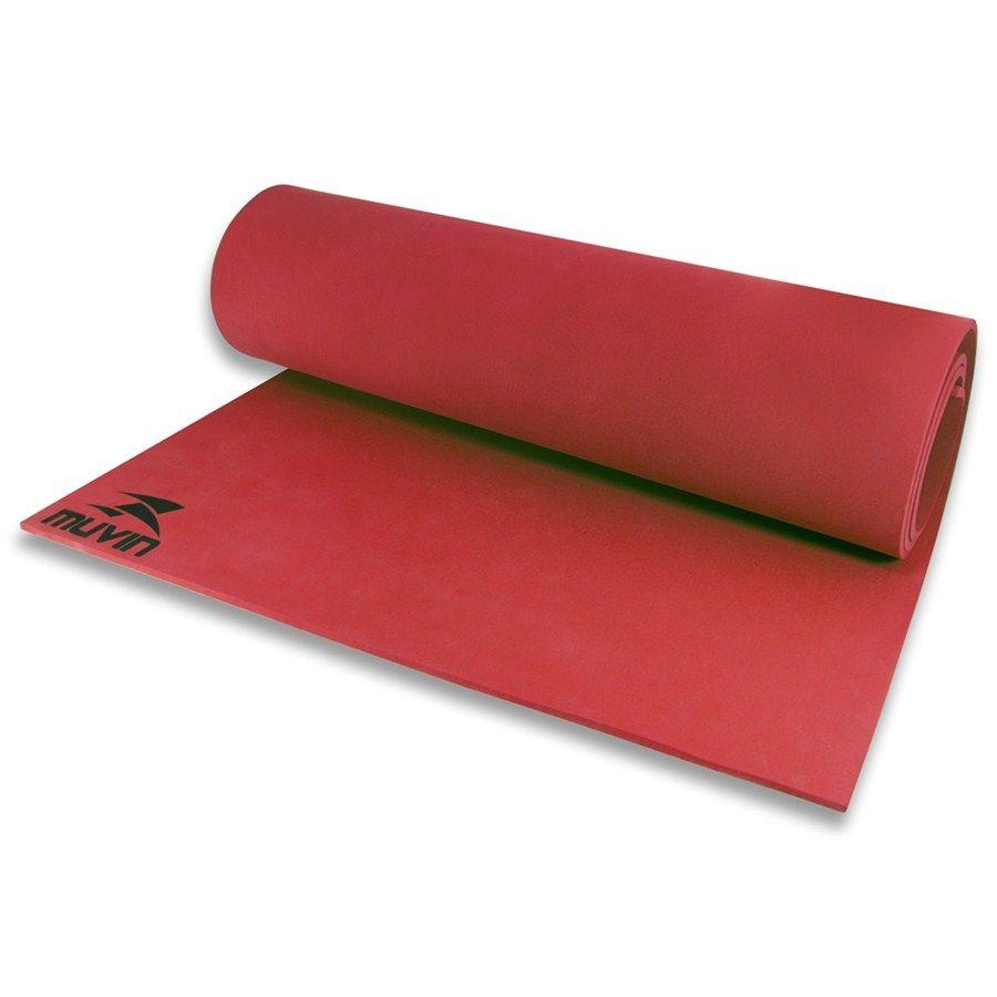Tapete Colchonete Muvin Para Yoga E Pilates Ginastica Em Eva - Vermelho - Muvin  - PRALUTA SHOP