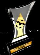 Troféu 0255 c/ Acrílico Adicional - Futebol | Rigdom