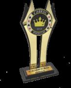 Troféu de Cartas Personalizado - Carta 240 - P/ Truco, Poker, Sueca