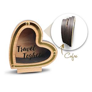 Cofre Coração - Travel Together