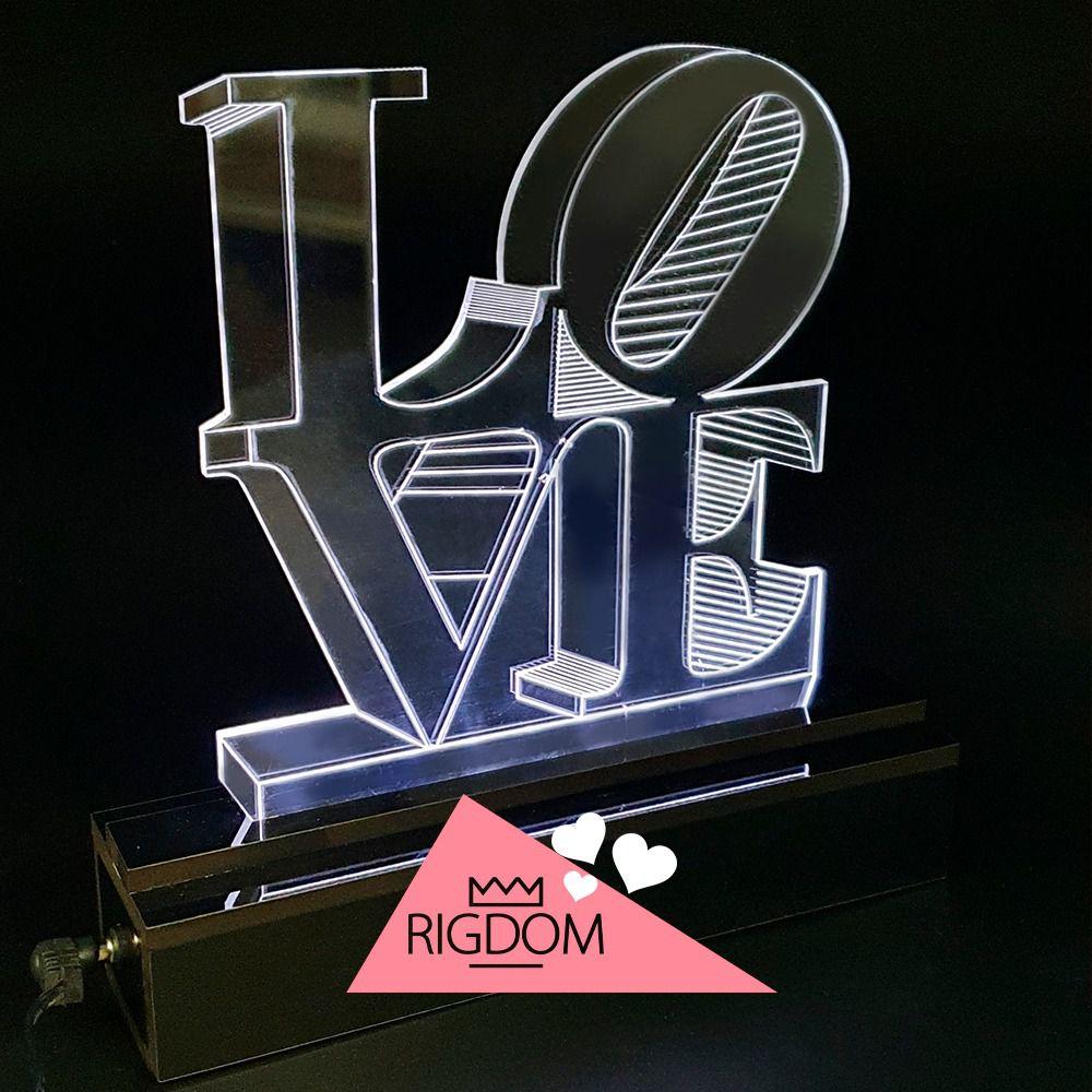 Luminária de LED - LOVE - 22 CM ALT