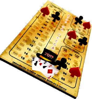 Marcador de Truco Personalizado 18 cm x 10 cm - Rigdom