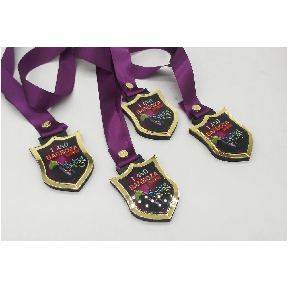 Medalhas de 8 cm c/ Sobreposição MDF + ACRILICO Personalizável