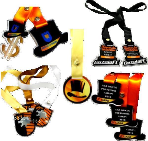 Medalhas de Acrílico - Cartola Games
