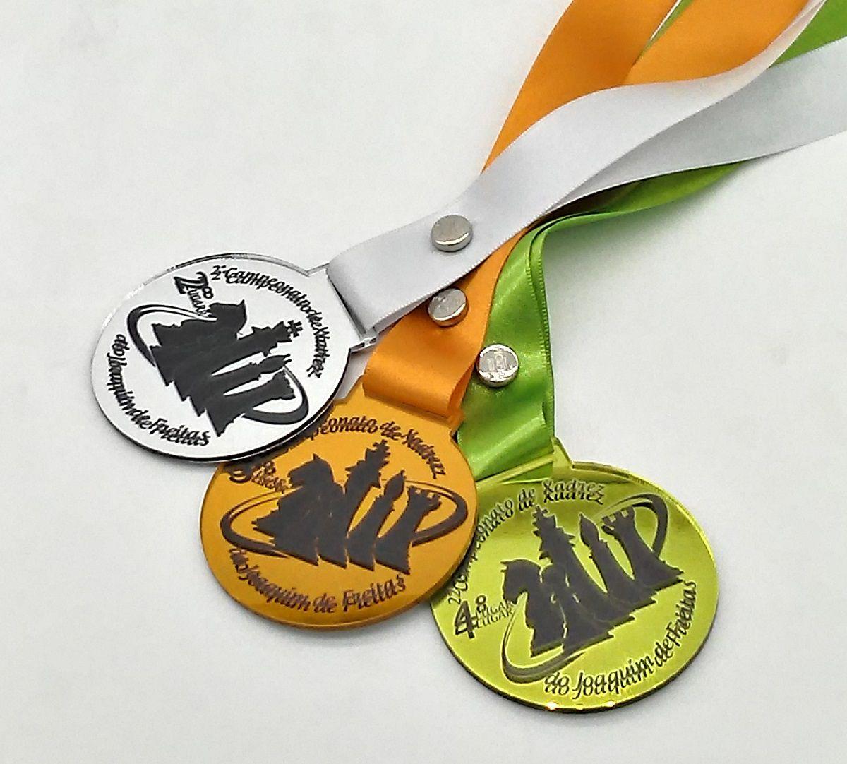 Medalhas de Acrílico Espelhada Personalizada