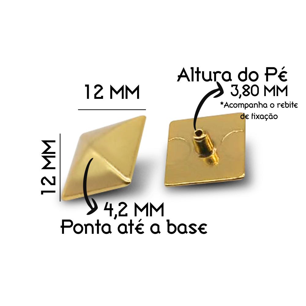 RG3263 PIRAMIDE OURO CLARO | PCT COM 200 PCS