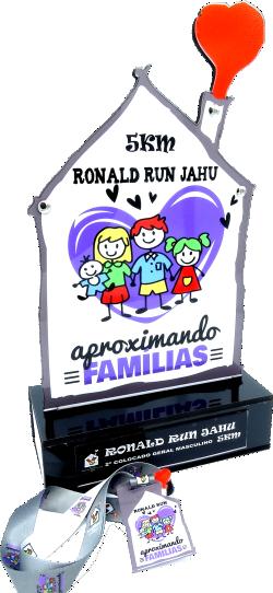 Troféu 0136 Cp Casa Ronald Run Jaú - Rigdom