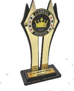 Troféu de Cartas Personalizado - Carta 240 - P/ Truco, Poker, Sueca - Rigdom