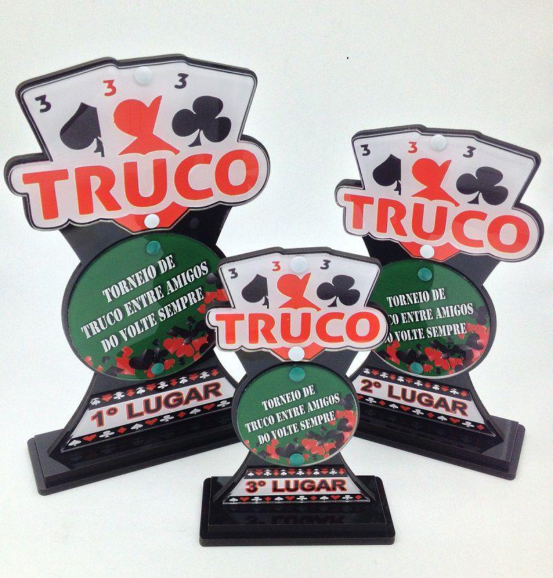 Troféu de Cartas p/ Truco, Poker, Sueca - CARTA 010