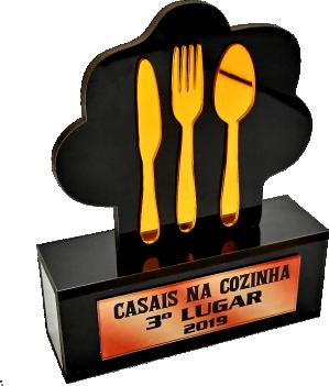 Troféu Gastronômico 0317 Personalizável - Rigdom
