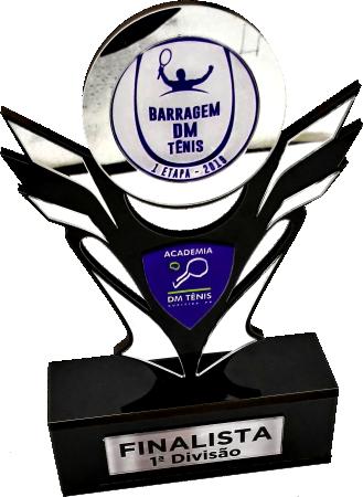 Troféu Personalizável TÊNIS 0032 - Rigdom