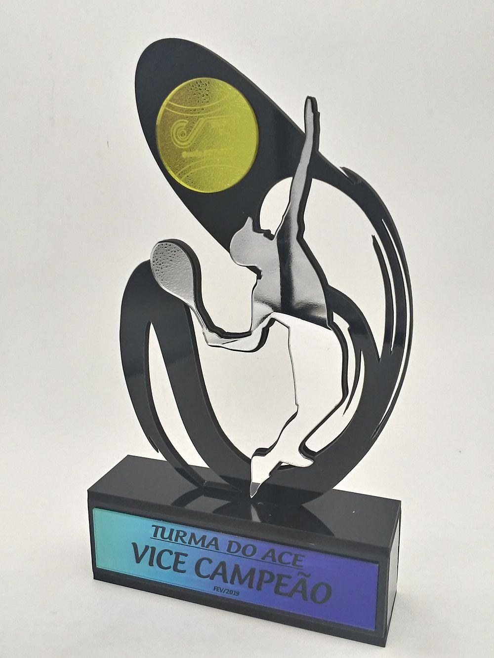 Troféu Personalizável TÊNIS 020 - Rigdom