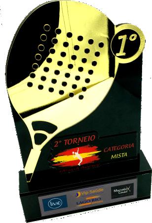 Troféu Personalizável TÊNIS 0452 - Rigdom