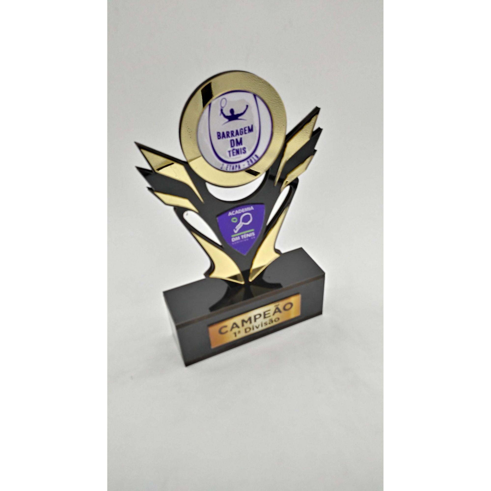 Troféu Personalizável TÊNIS 430 - Rigdom