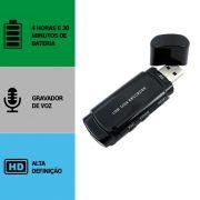 Pen Drive com Câmera Espiã, Gravador de Voz, HD