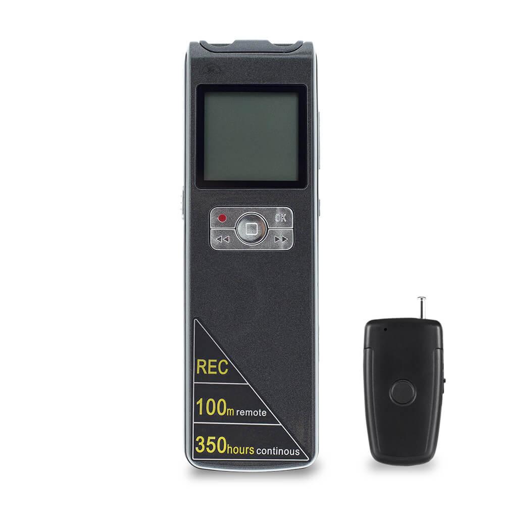 Escuta Espiã com Sensor de Voz, Grava 350 Horas
