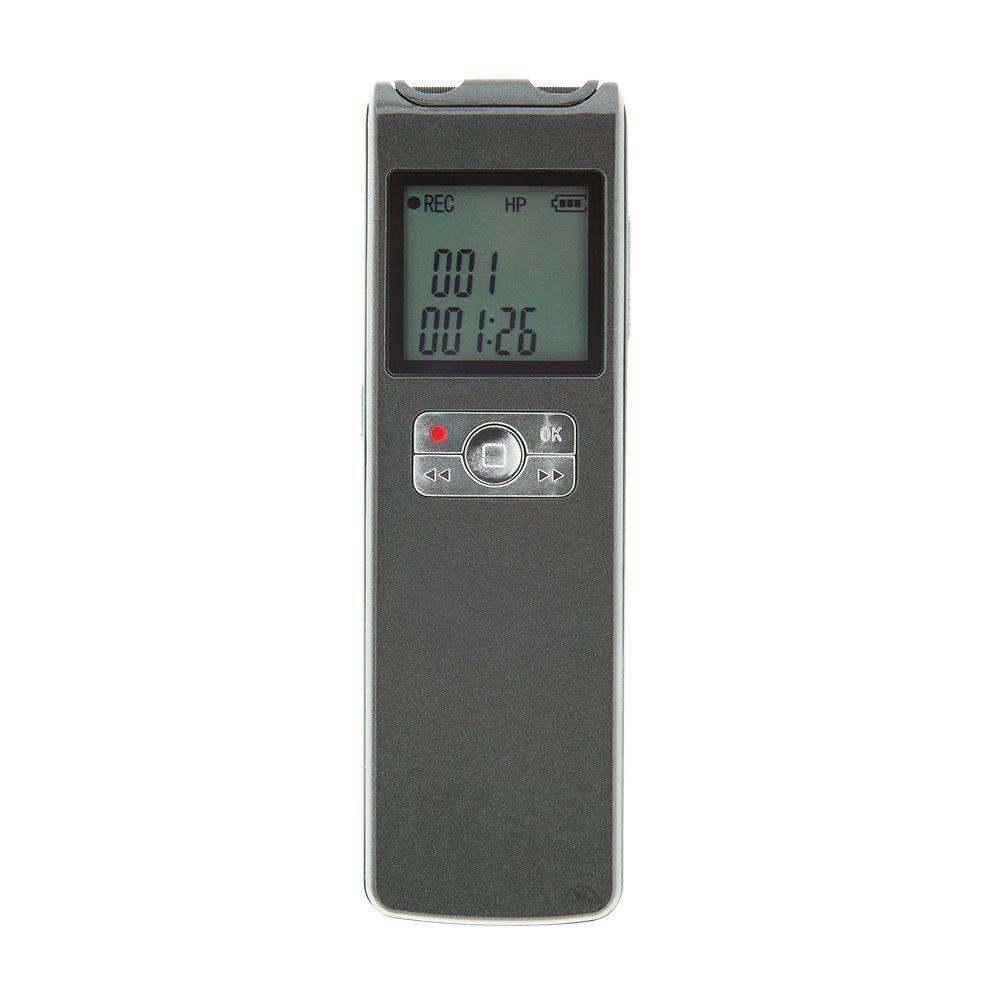 Gravador de Voz Para Laudos Médicos, com Sensor de Áudio, Guarda 1110 Horas de Gravação