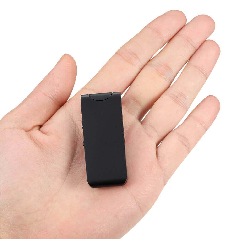 Mini Escuta Espiã com Sensor de Voz, Grava 100m Distância