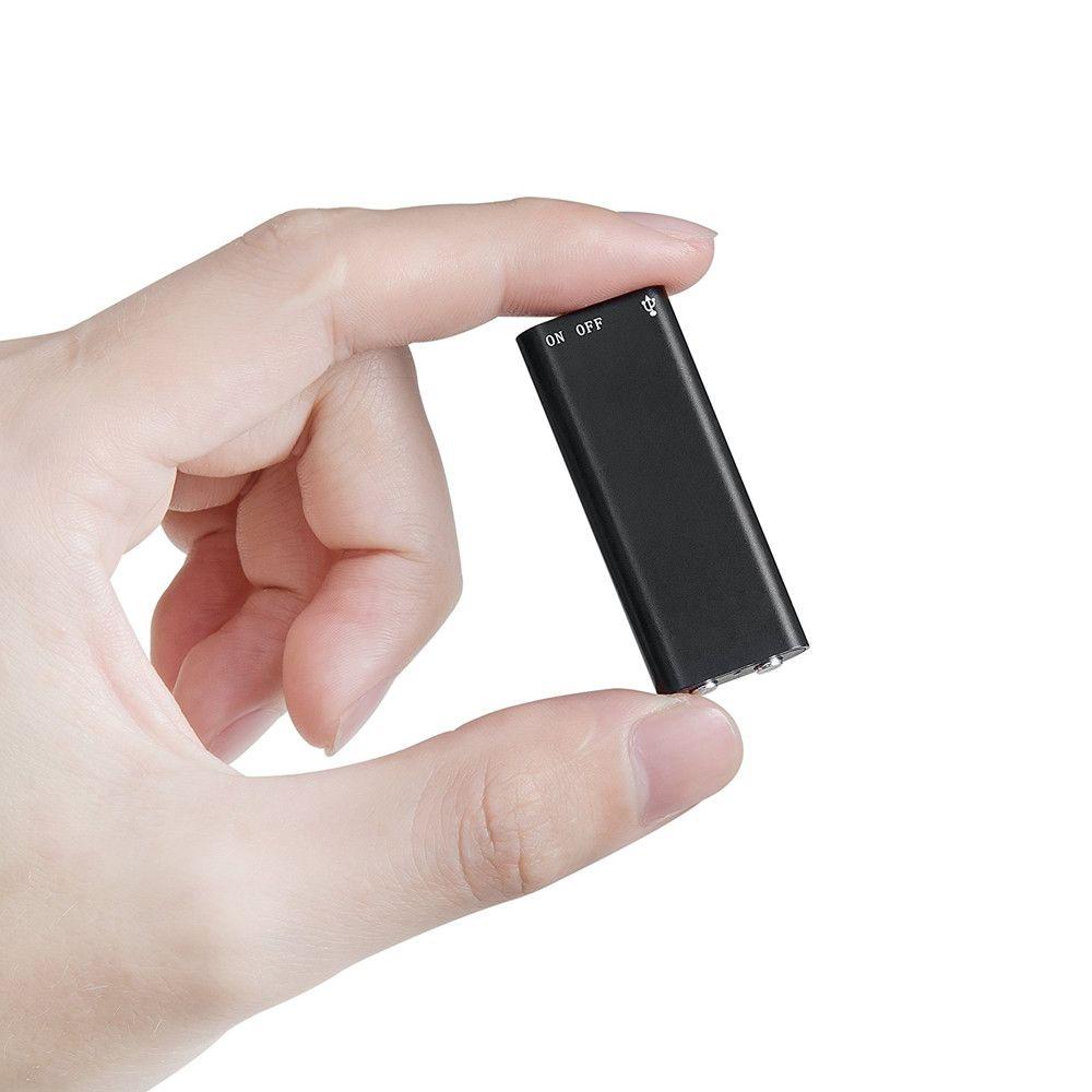 Micro Gravador de Voz, Grava 10 Horas  Sem Parar, Mp3 Player  - Empório Forte