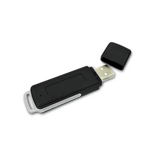 Pen Drive Mini Gravador de Voz, 15 Horas Seguidas de Gravação