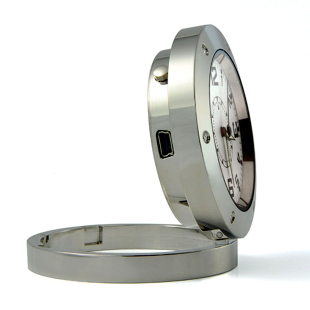 Relógio de Mesa com Câmera Espiã, Gravador de Voz, HD  - Empório Forte