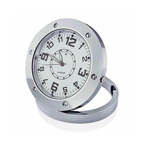 Relógio de Mesa com Câmera HD e Gravador de Voz