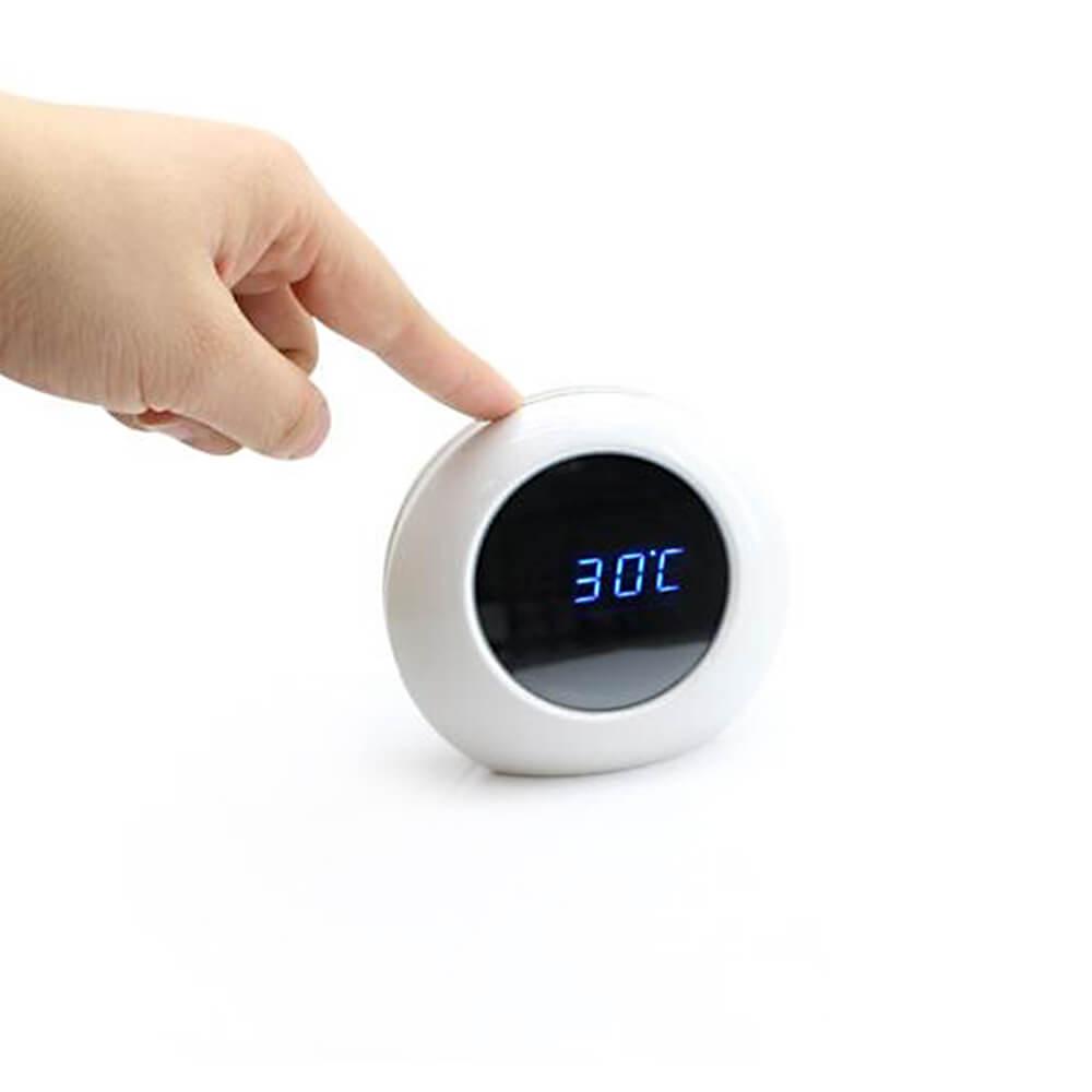 Relógio Digital com Câmera HD e Sensor de Presença