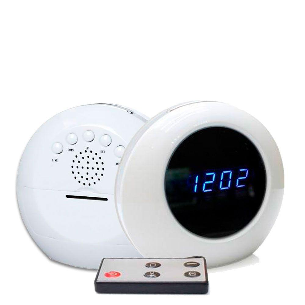 Relógio de Mesa Digital com Câmera Espiã, Gravador de Voz, Sensor de Movimento, HD  - Empório Forte