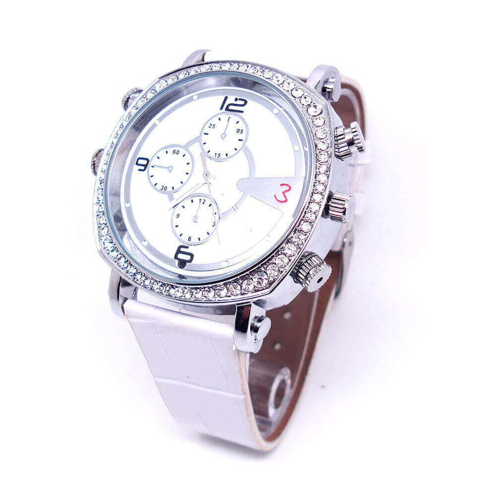 Relógio de Pulso Feminino com Câmera Espiã, Gravador de Voz, HD