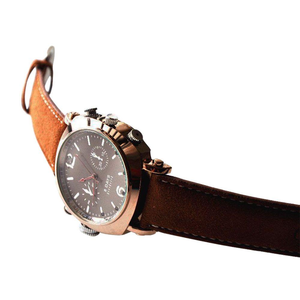 Relógio de Pulso Unissex com Câmera Espiã, Visão Noturna, Full HD