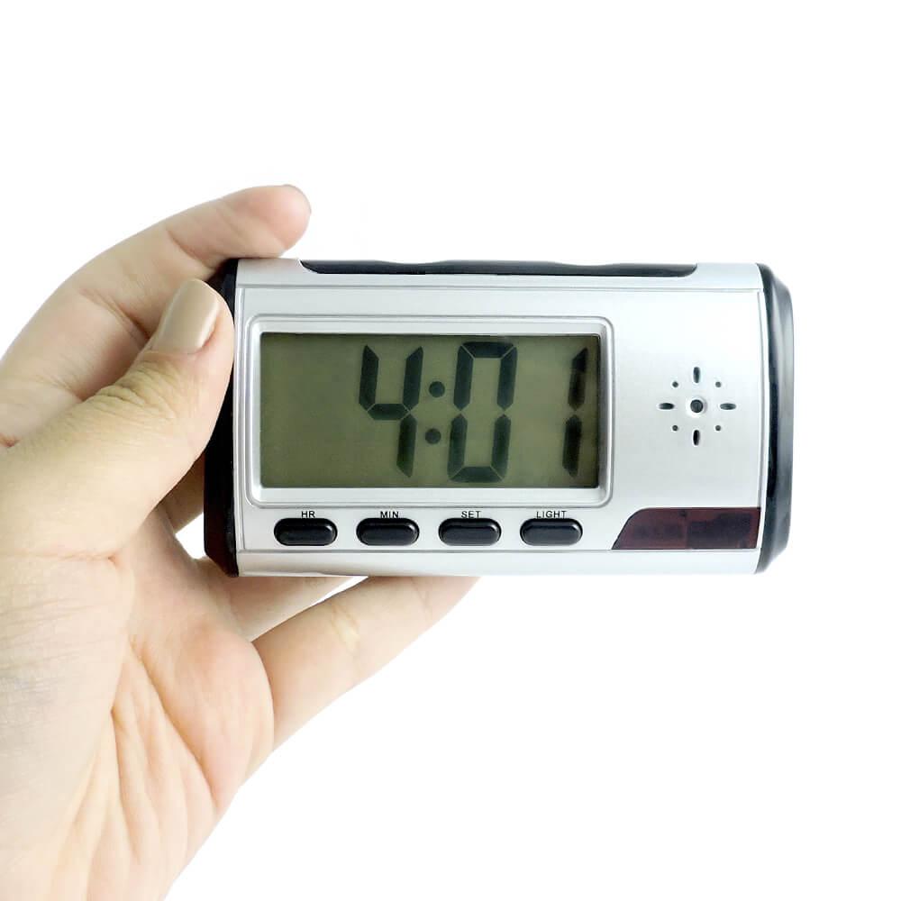 Relógio Espião com Sensor de Movimento, Grava 200 Horas