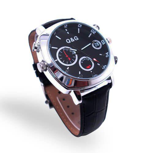 Relógio Unissex com Câmera, Visão Noturna e Sensor de Presença