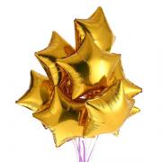 Kit 10 Balões Estrela Dourado