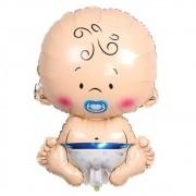 Balão Metalizado Bebê Azul