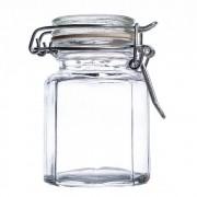 Pote de Vidro Oitavado com Tampa Hermética 100 ml