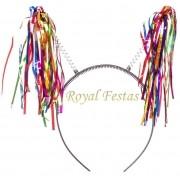 Tiara Xuxinha com fios Metalizados Coloridos