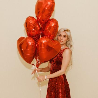 Kit 10 Balões Coração Vermelho