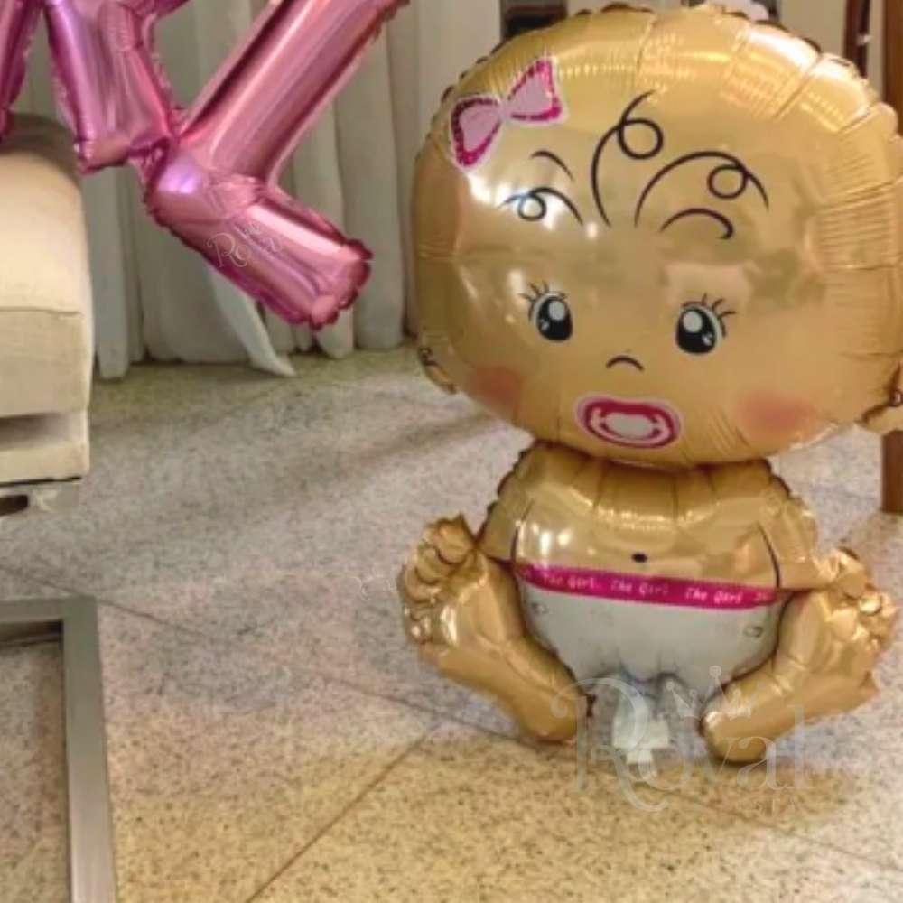 Balão Metalizado Bebê Rosa