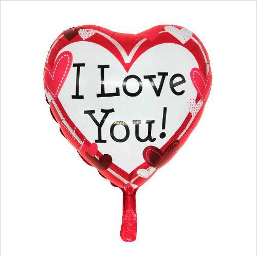 Balão Metalizado Coração I Love You