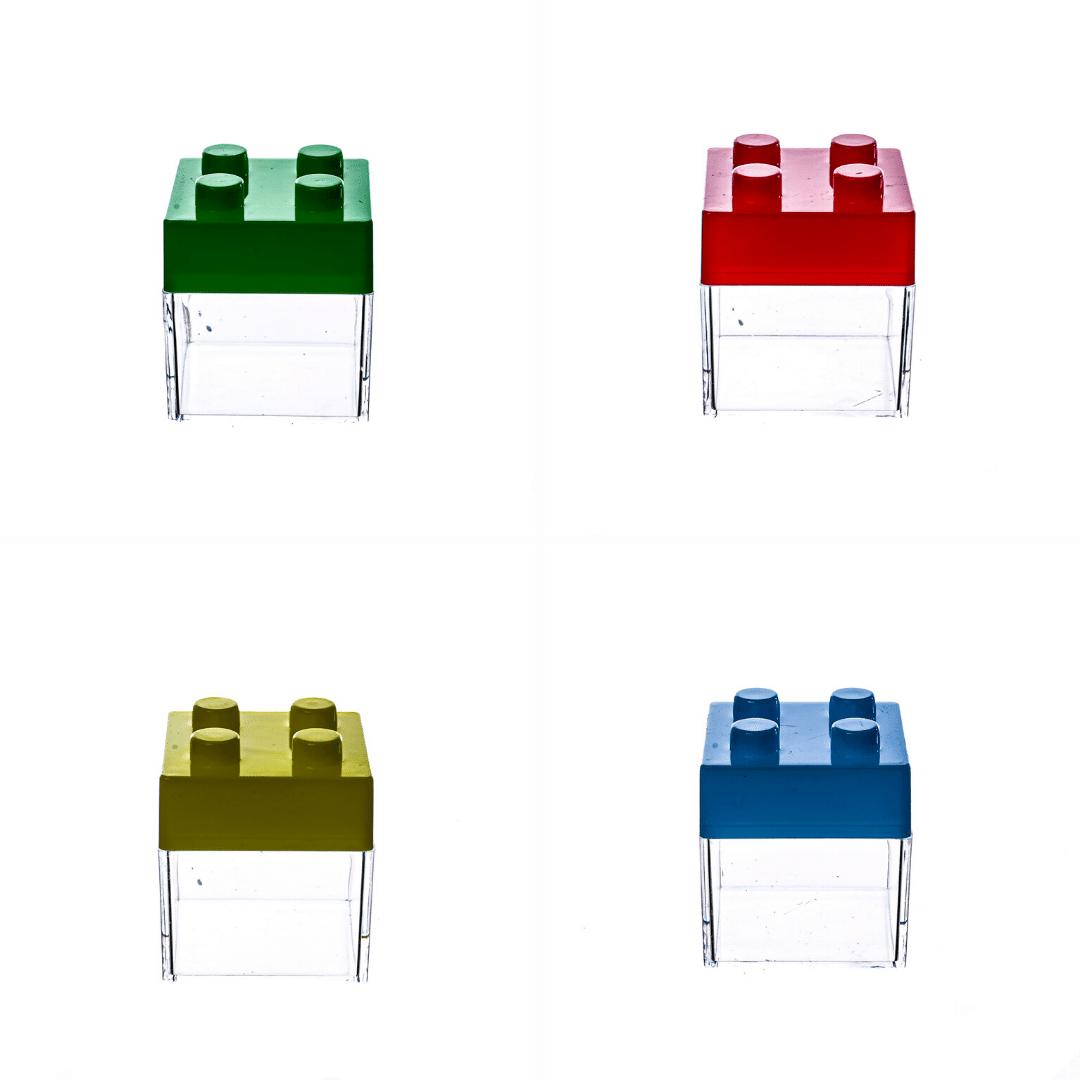 Caixa Acrilica Com Tampa Lego - 12 unidades.