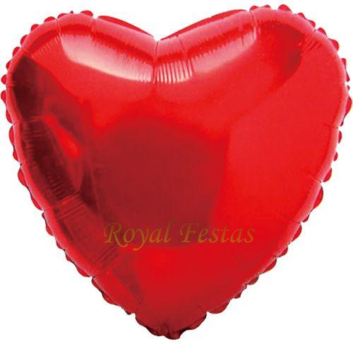 Kit 12 Balões Metalizados Vermelho e Rosa