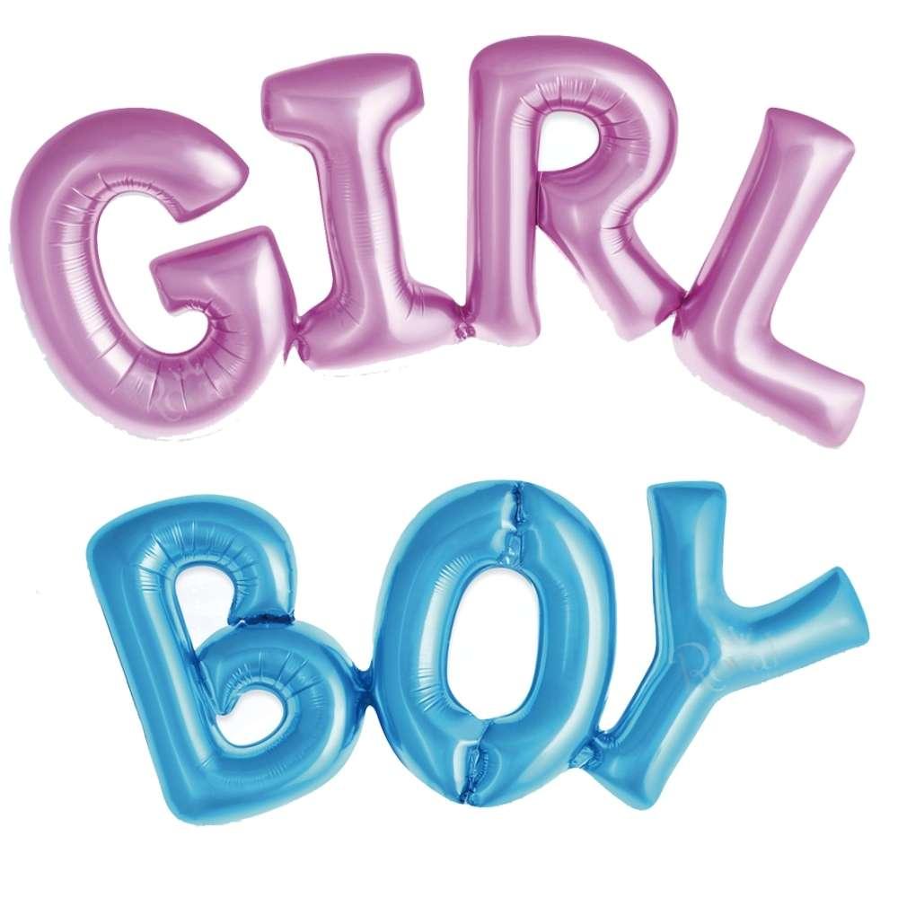 Kit 4 Balões Chá de Revelação Boy Girl