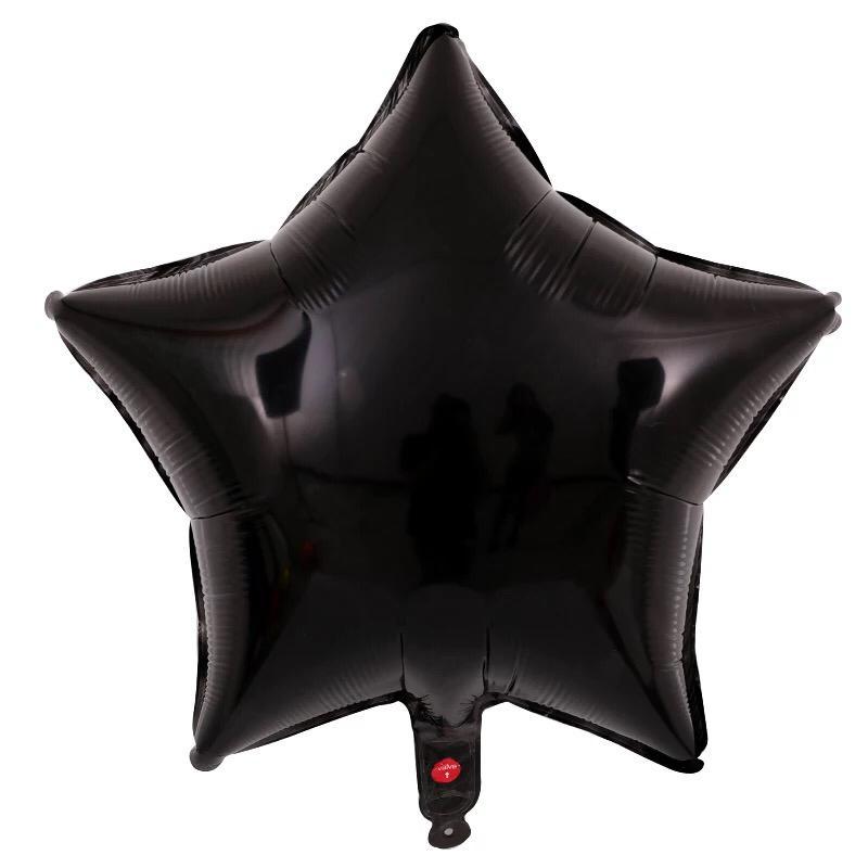 Kit 10 Balões Estrela Candy Branco e Preto