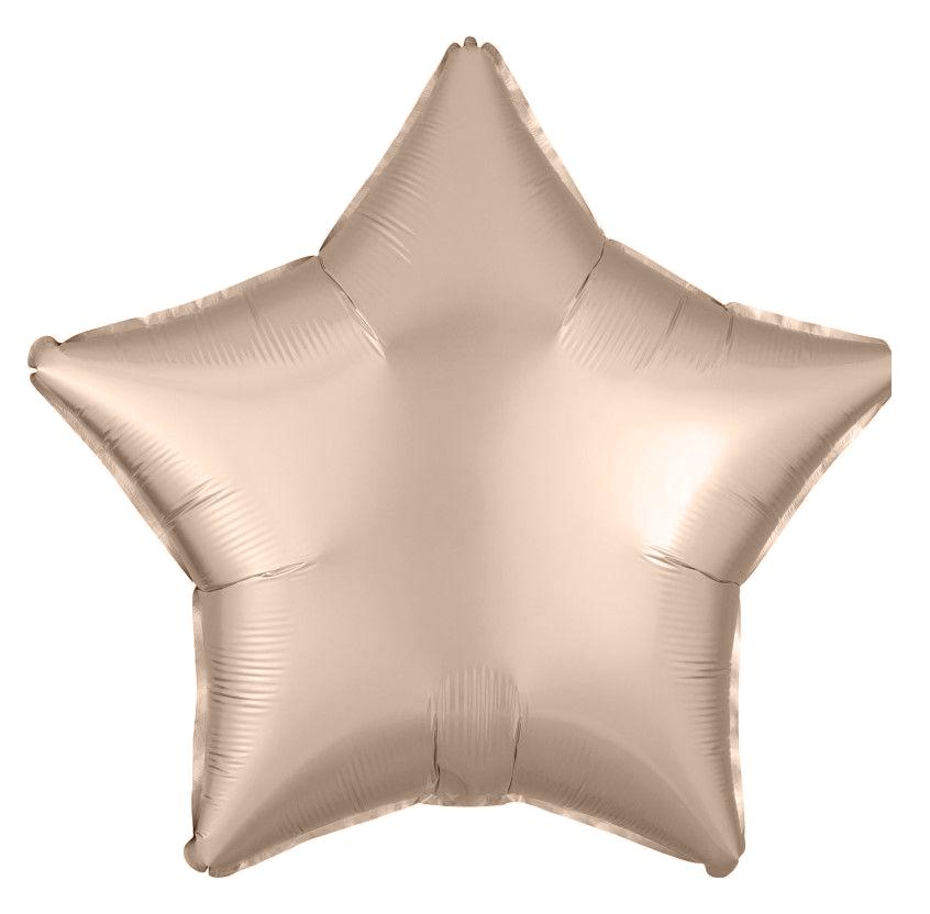 Kit 10 Balões Estrela Candy e Metalizada Branco e Ouro Rosé