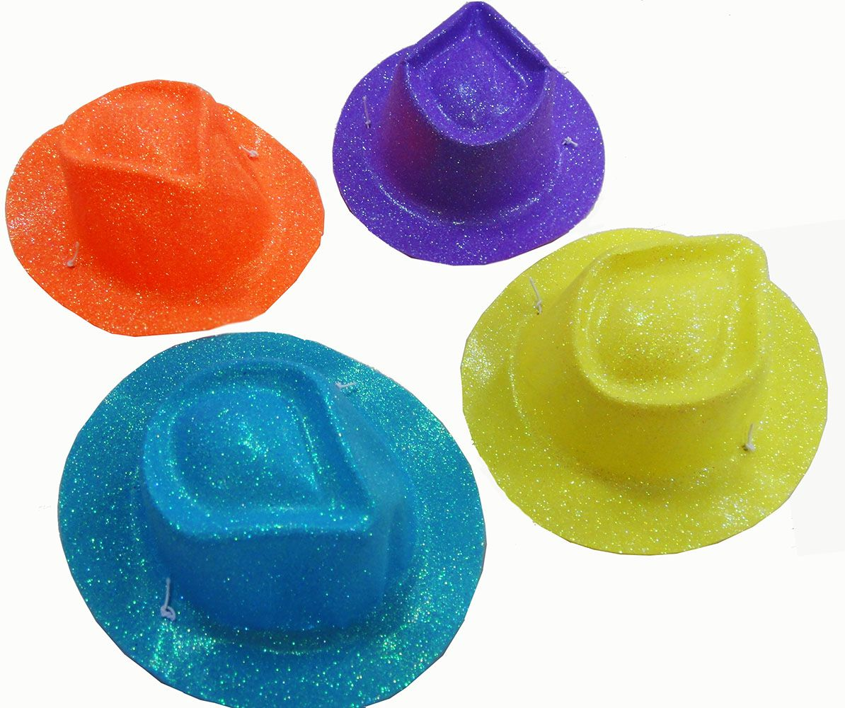 Mini Chapéu Cowboy com Glitter Cores Sortidas com 12 unidades ddfbdef316b
