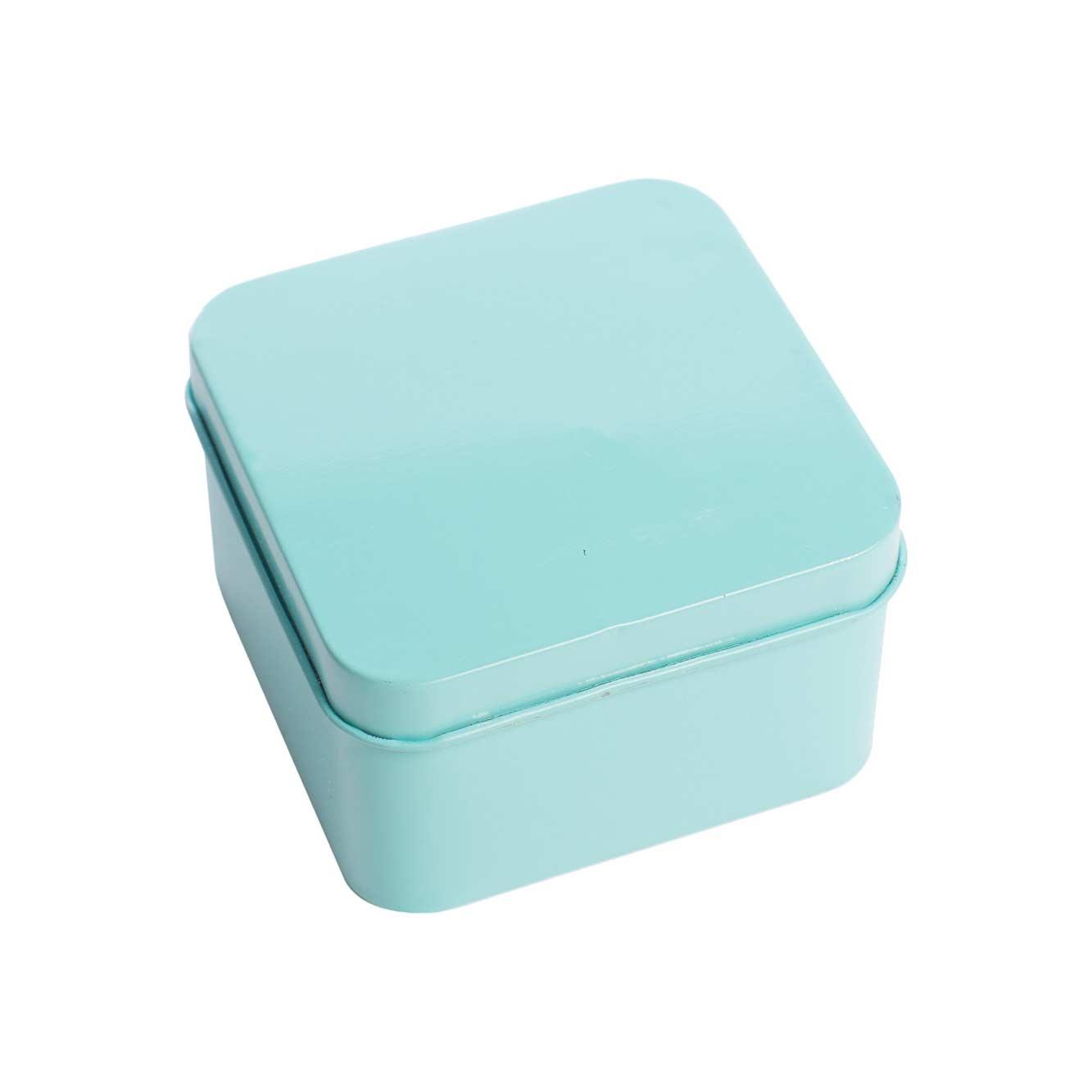 Latinha Quadrada Azul - 12 unidades