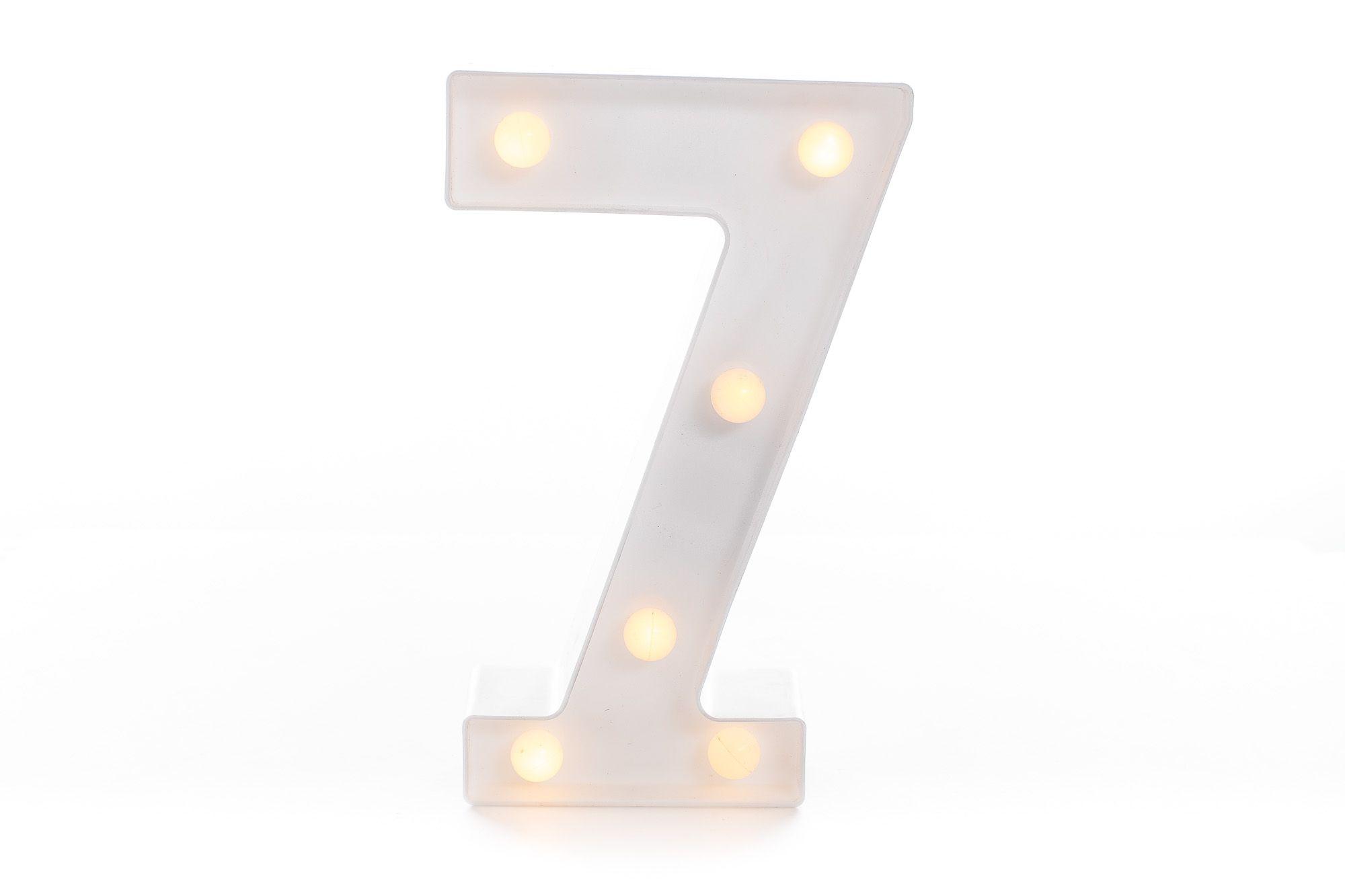 Luminária de Plástico Números 0 a 9