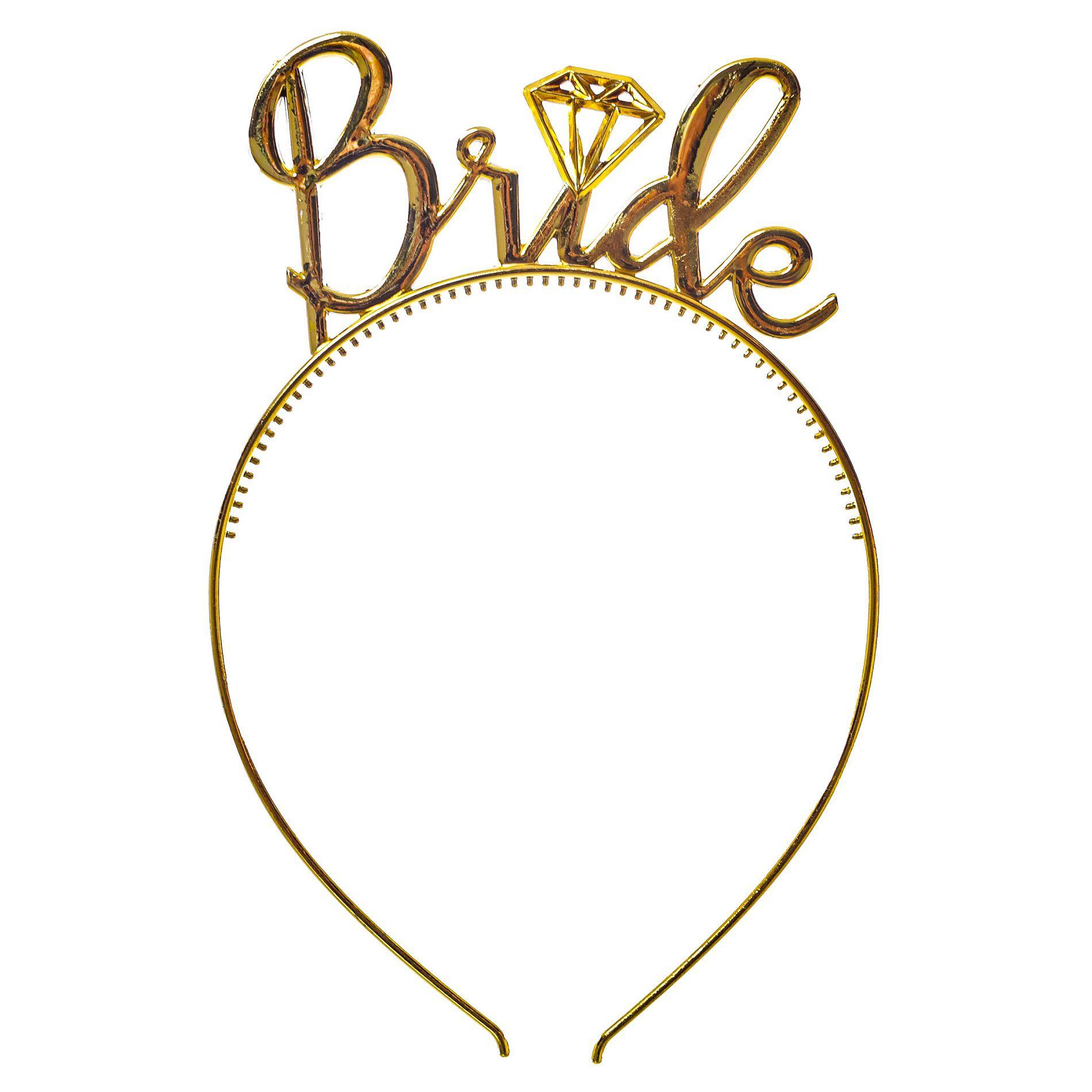 Tiara Metalizada Bride / Despedida de solteira
