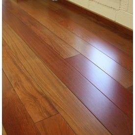 Assoalho Madeira Jatobá Envernizado - Piso Pronto 1,7cm x 9cm x 30cm à 1,20m