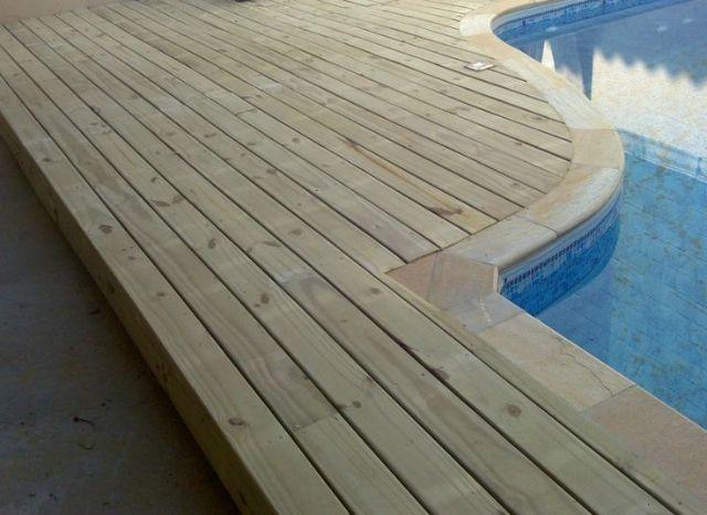 Deck de Pinus Auto Clave 2,50m x 10cm x 2,2cm
